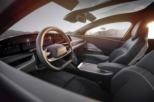 Interior of the Lucid Air show car, which is expected to be produced beginning in 2021.
