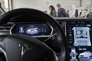 A view of the dashboard in a new Tesla Model S car at a Tesla showroom on November 5, 2013 in Palo Alto, California. Justin Sullivan | Getty Images