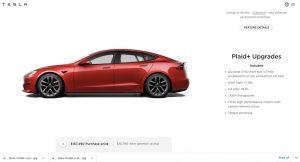 The specs of the Tesla Model S Plaid+. (Credit: Tesla)