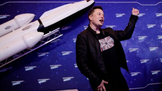 SpaceX owner and Tesla CEO Elon Musk gestures after arriving on the red carpet for the Axel Springer award, in Berlin, Germany, December 1, 2020. REUTERS/Hannibal Hanschke/Pool TPX IMAGES OF THE DAY - RC2IEK9DY5KB