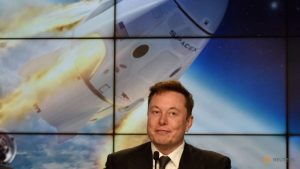 SpaceX's founder and chief engineer, Elon Musk, at a news conference on January 19, 2020. REUTERS/Steve Nesius