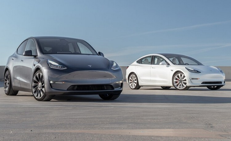Tesla Model Y and Model 3