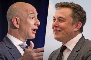 Jeff Bezos Elon Musk Canada's Telesat