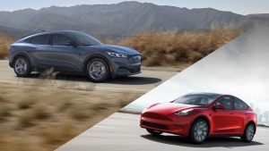 Ford Mustang Mach-E and Tesla Model Y