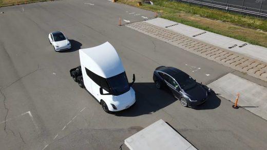 Tesla Model X Plaid and Tesla Semi