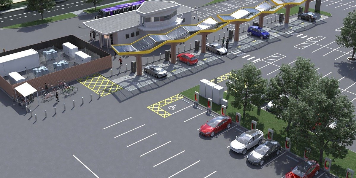 Tesla & Fastned to Build Large Fast-Charging Station at Energy Superhub Oxford