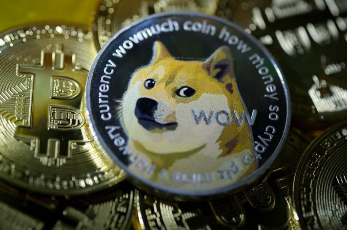 """The dogecoin price has soared after a steep [-] sell-off last week, with the """"joke"""" cryptocurrency outpacing bitcoin and most other major cryptocurrencies. GETTY IMAGES"""