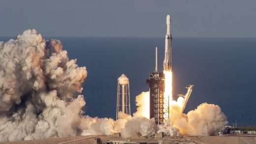 SpaceX launches a Falcon 9 rocket in February 2021. Photo: SpaceX