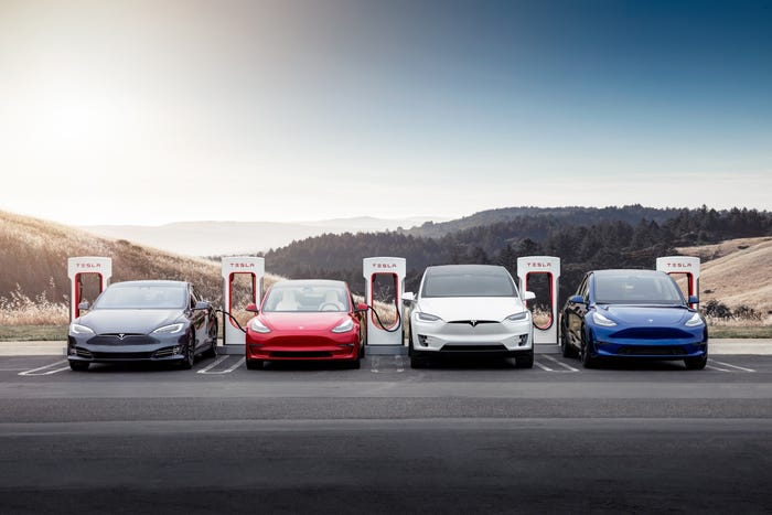 Tesla Model S and Model X and Model Y and Model 3