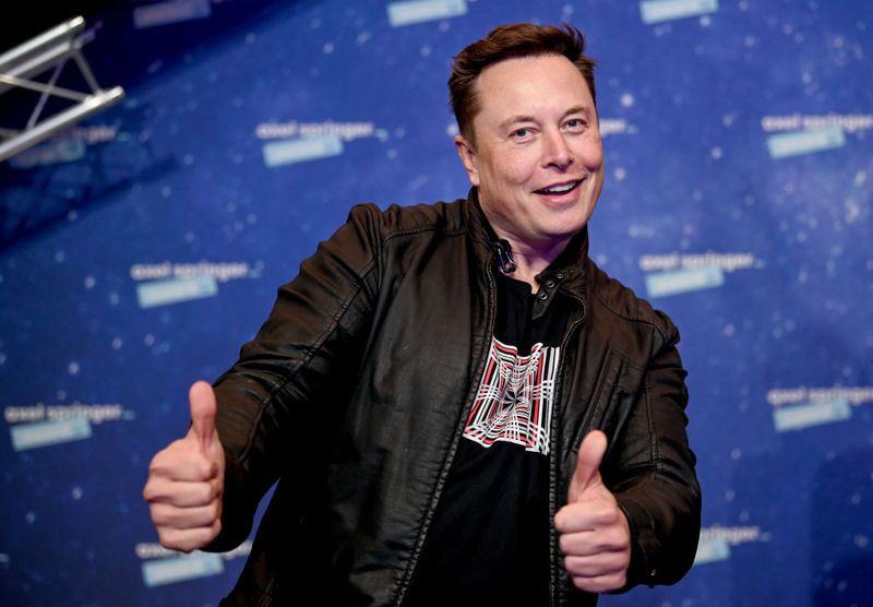 SpaceX owner and Tesla CEO Elon Musk arrives on the red carpet in December to receive the Axel Springer Award 2020 in Berlin. Photographer: Pool/Getty Images Europe