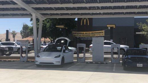 Tesla Supercharger McDonald's