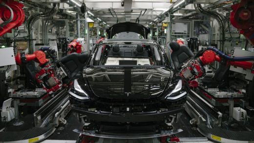 Tesla Model Y production robots in Gigafactory Texas
