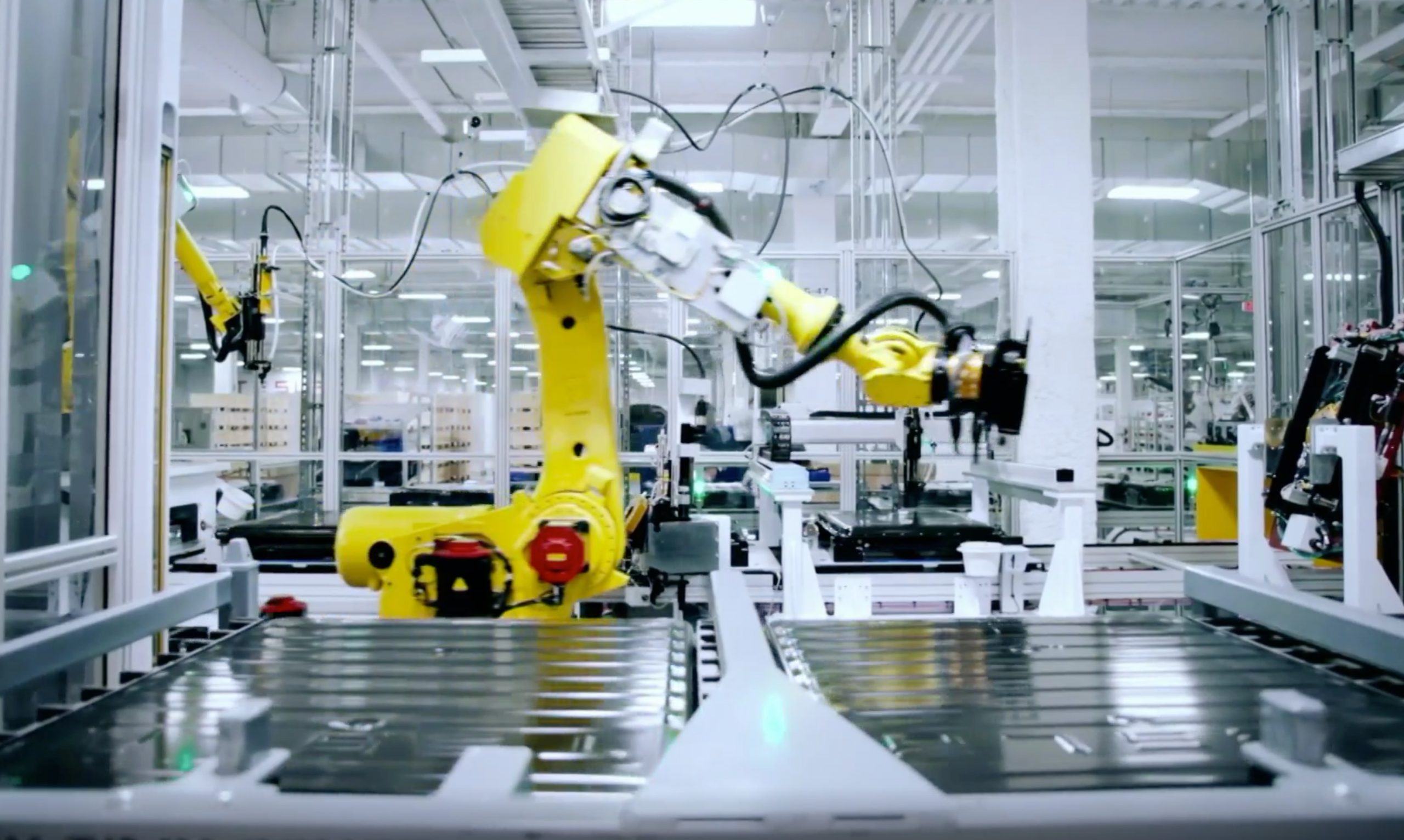 TESLA GIGAFACTORY NEVADA BATTERY CELL PRODUCTION LINE (CREDIT: SUPER FACTORIES)