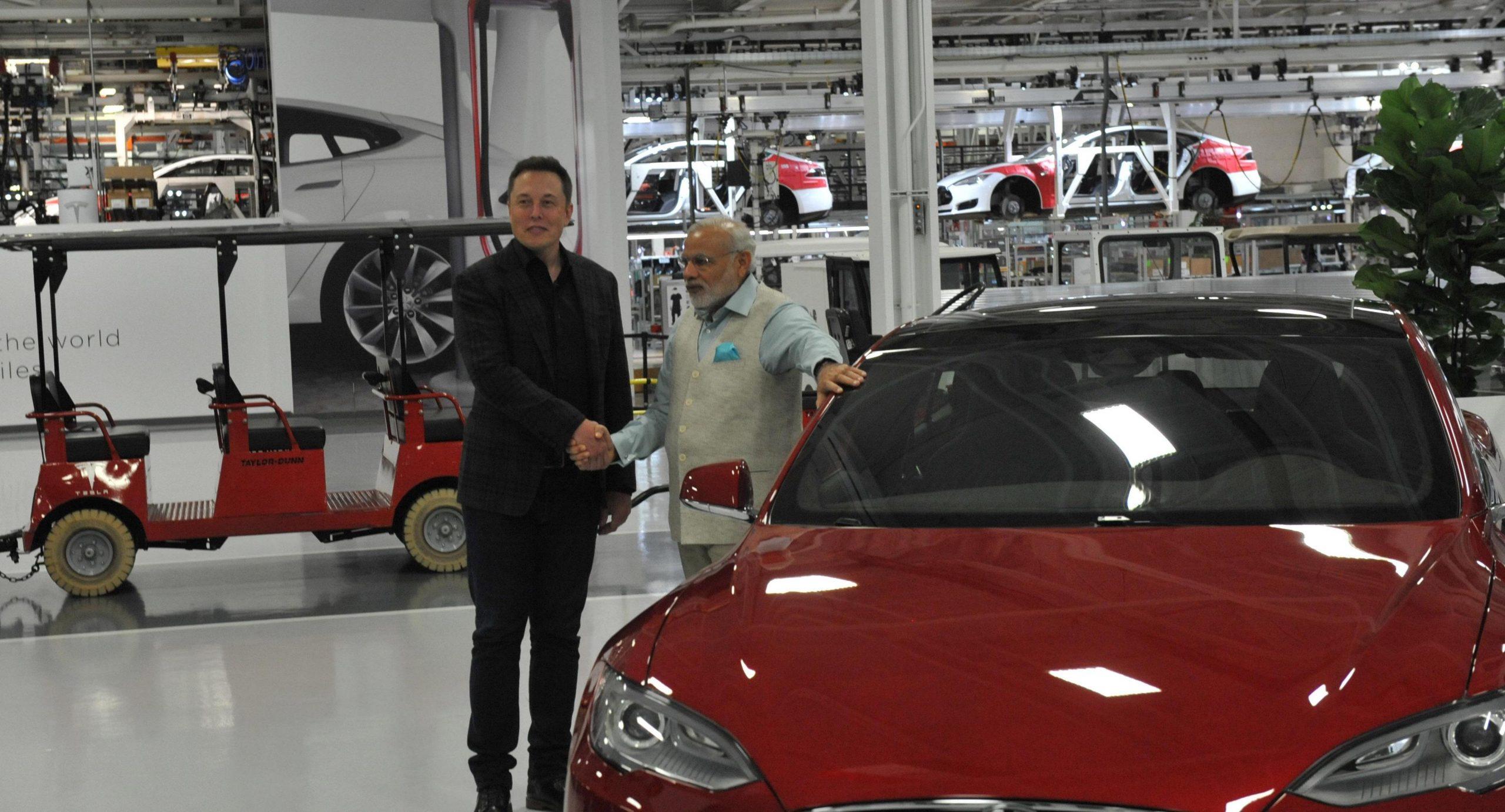 Tesla CEO Elon Musk with India Prime Minister Narendra Modi (Photo: Narendra Modi/Twitter)