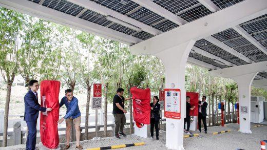 Tesla China solar Superchargers