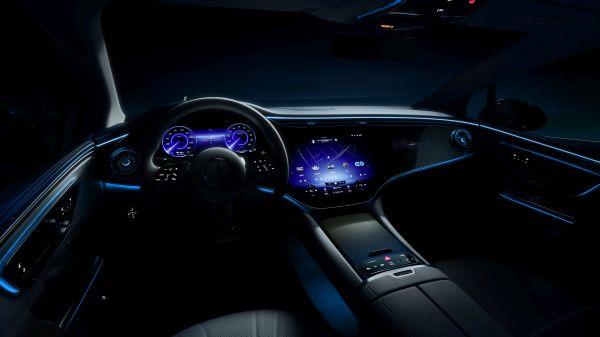 Mercedes-EQ. Der neue EQE steht kurz vor seiner Weltpremiere