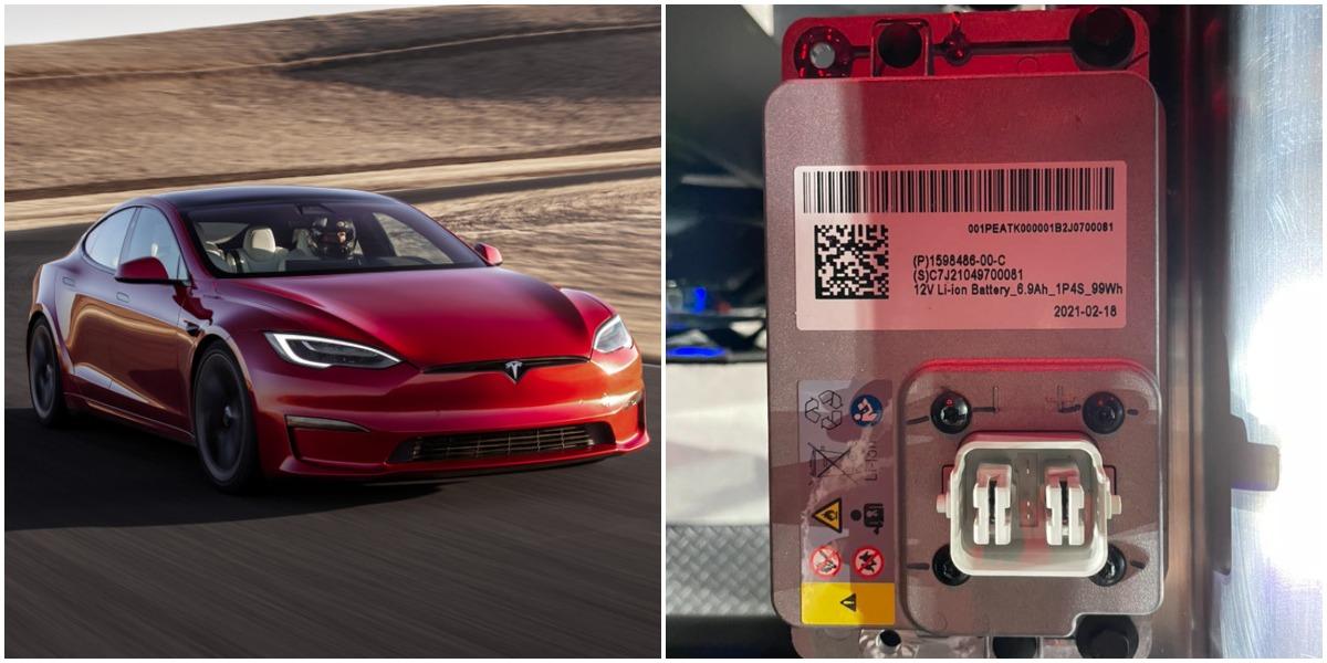 12V lithium-ion battery tesla