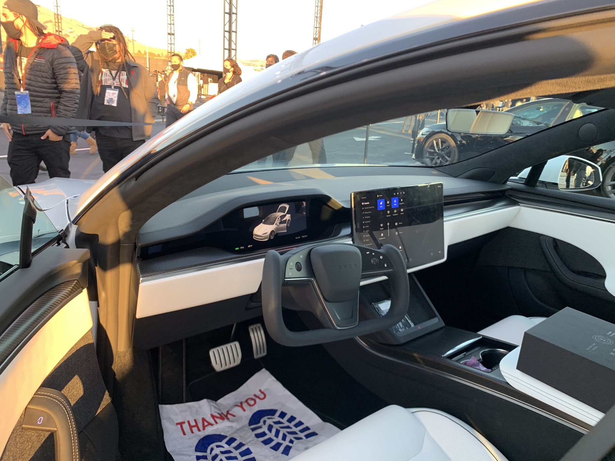 Tesla's Model S Plaid Delivery Event on June 10th allowed fans and owners to check out the automaker's new, refreshed version of the flagship sedan. (Credit: @kimpaquette/Twitter)