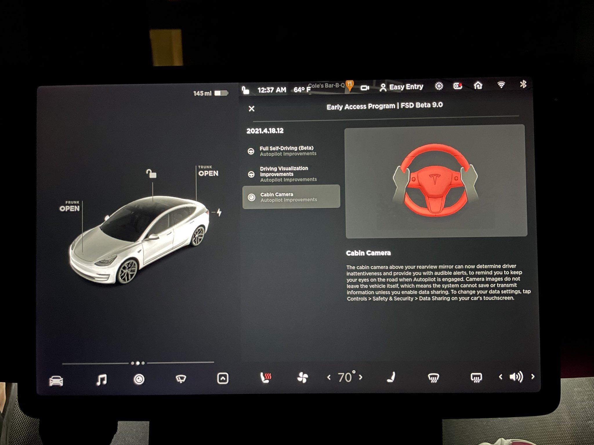 Tesla FSD Beta V9 release notes. (Credit: Tesla Raj/Twitter)