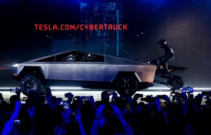 Tesla Cybertruck and Cyberquad. Ringo H.W. Chiu/Associated Press