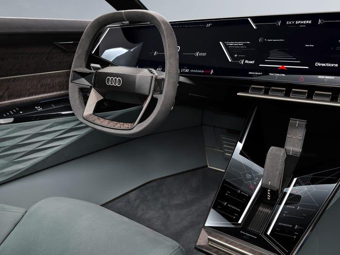 Audi's unveiled its new Skysphere autonomous driving concept August 10. AUDI AG