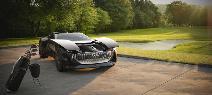 Audi's Skysphere all-electric concept is able to elongate by 250mm for its self-driving mode. AUDI AG