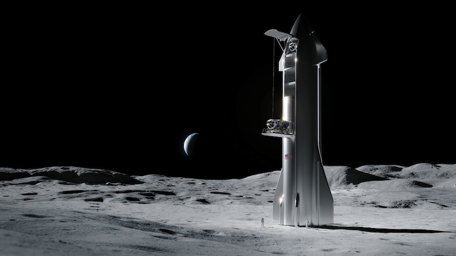SpaceX has been designing a version of Starship for Nasa Artemis flights to the Moon