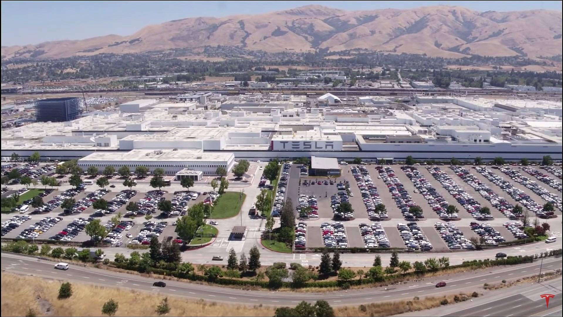 The Fremont factory. (Credit: Tesla)