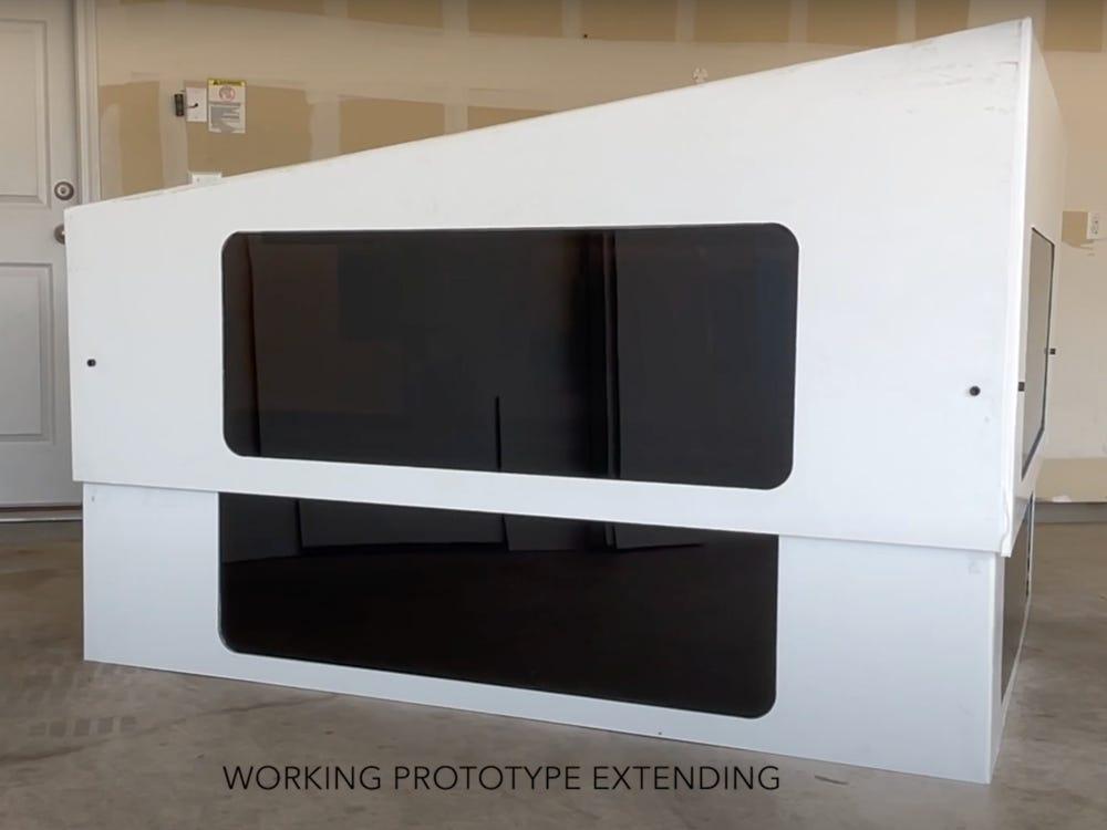 Tesla Cybertruck RV reveals prototype