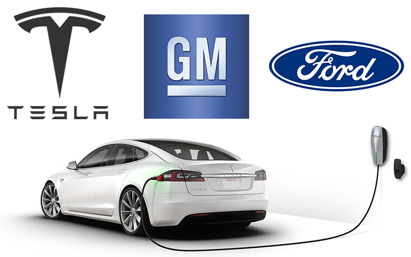Tesla and Ford and GM