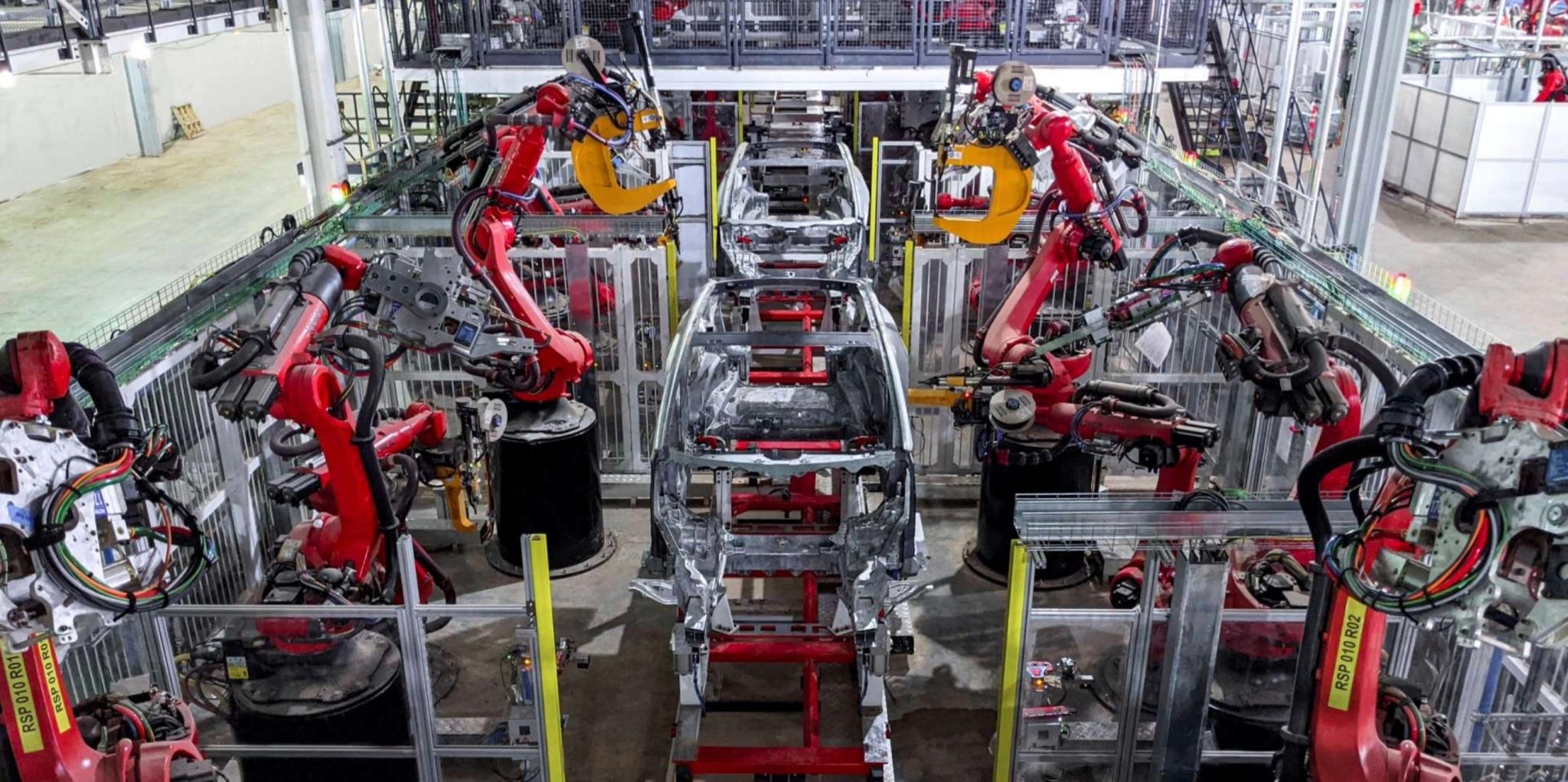 Tesla Model Y body Texas