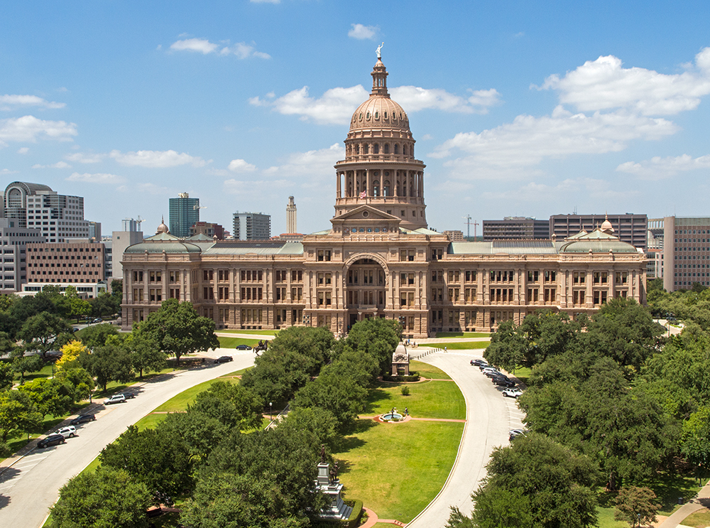 The Texas State Capitol in Austin. Tesla's decision to move its headquarters there might not be an easy fit in a state run by conservatives who are protective of its fossil-fuel industry.Credit...Matthew Busch for The New York Times