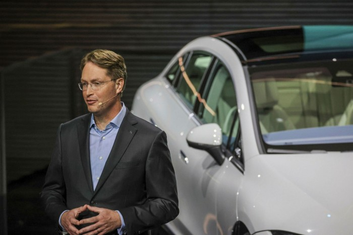 'We are on a very accelerated path compared to what we thought even a few years ago,' says Ola Källenius, chief executive of Mercedes owner Daimler © Alex Kraus/Bloomberg