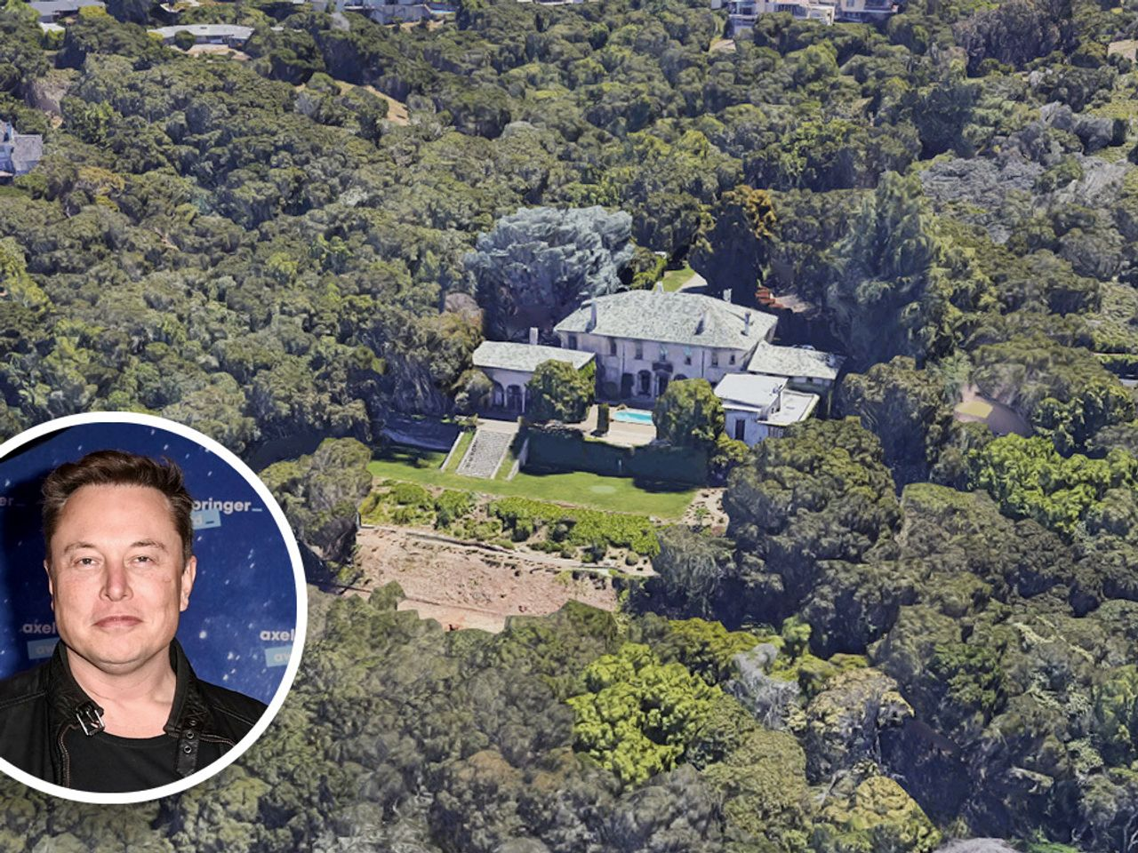 The Silicon Valley home owned by Elon Musk is now asking just under $32 million.GOOGLE MAPS / GETTY IMAGES