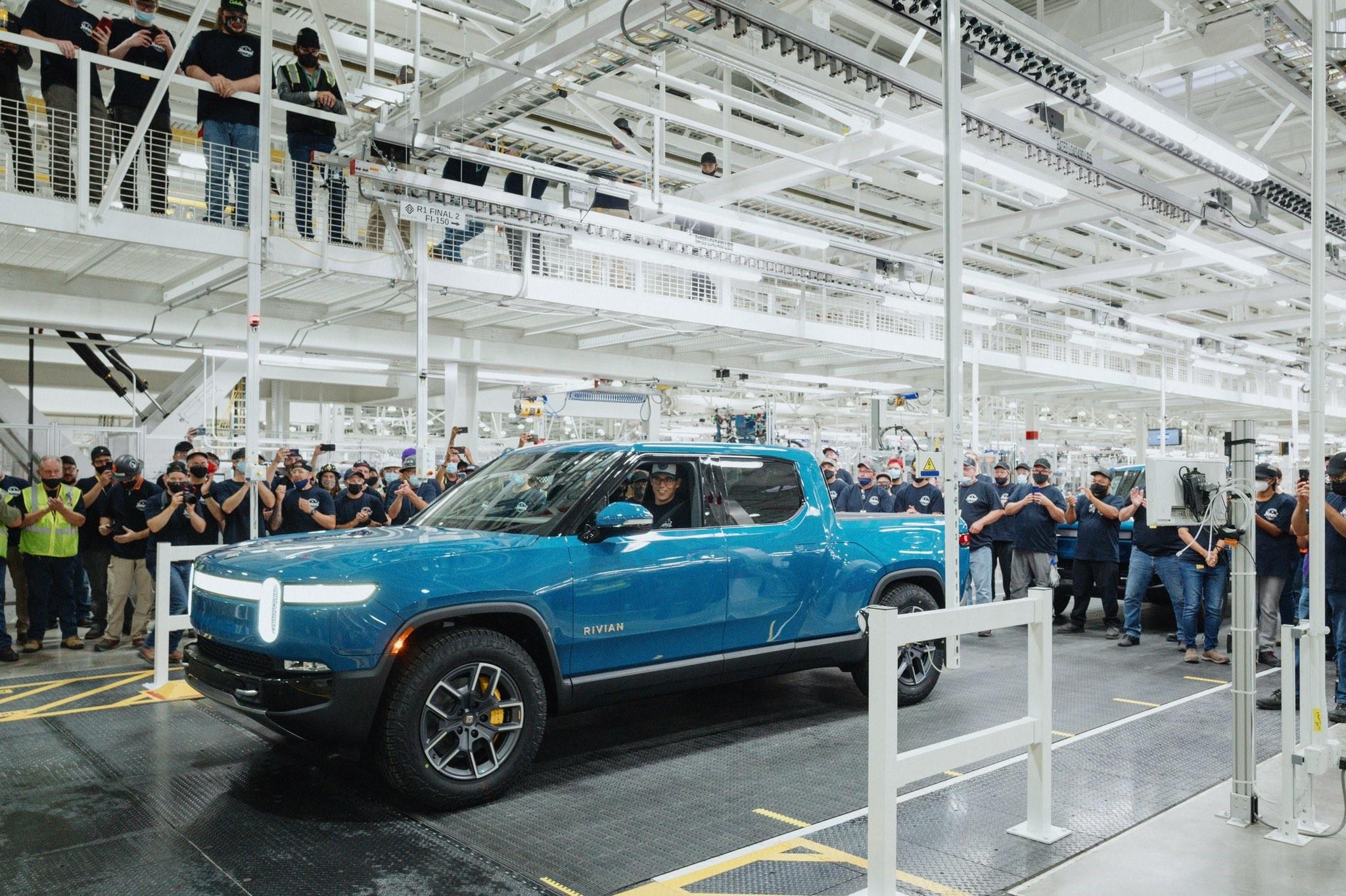 Rivian began building R1T pickups at its Normal, Illinois, plant in September. RIVIAN
