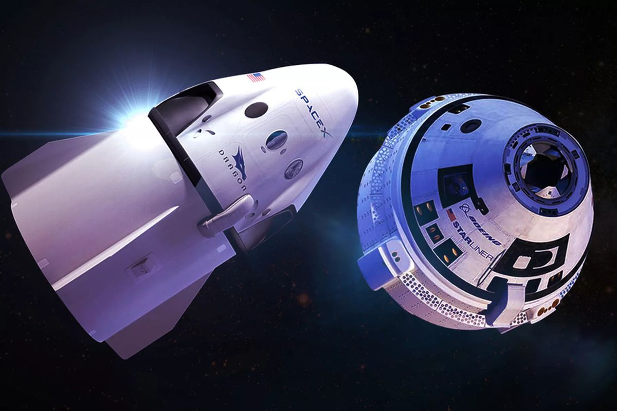 The two astronauts that were previously assigned to Boeing's Starliner spaceship, pictured above, have been moved to a SpaceX mission next year. Boeing