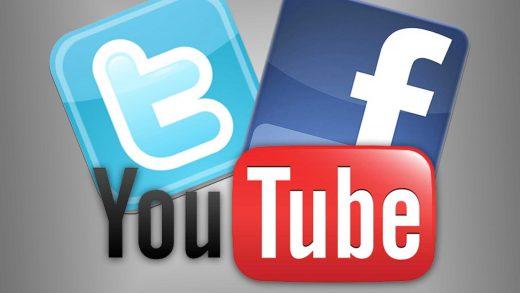 YouTube Twitter Facebook