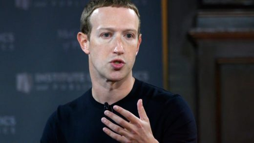 "Facebook founder Mark Zuckerberg speaks at Georgetown University in a 'Conversation on Free Expression"" in Washington, DC on October 17, 2019."