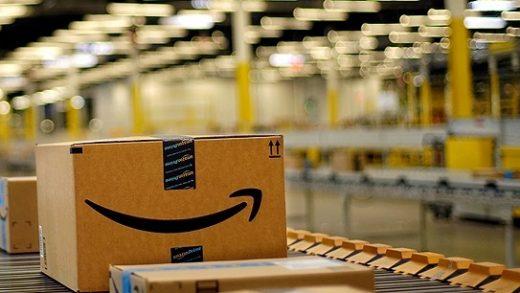 Amazon fulfillment center warehouse.