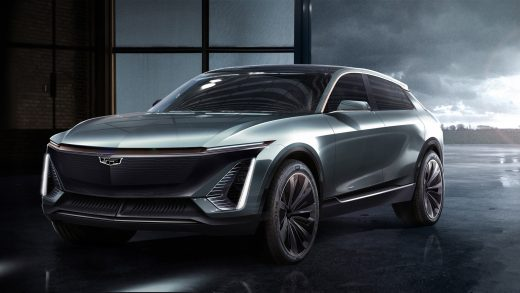 Teaser for Cadillac Lyriq electric cossover SUV based on GM BEV3 modular platform