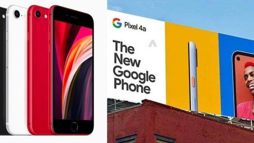 Pixel 4 iPhone SE
