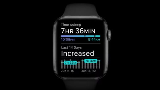 watchOS 7 includes sleep tracking support.