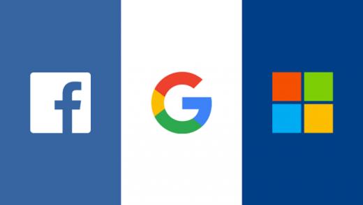 Google Facebook Microsoft