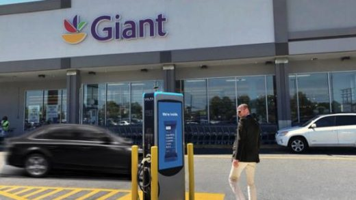 Giant Food Installs Electric Vehicle Chargers