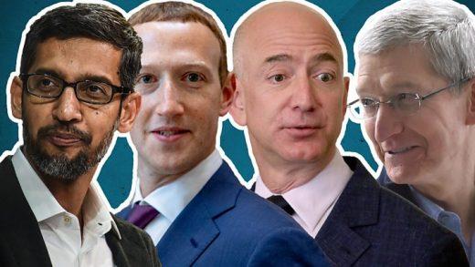 CEO Mark Zuckerberg Facebook Apple Tim Cook Amazon Jeff Bezos Google Sundar Pichai