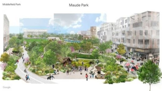Rendering of Maude Park, Middlefield Park Source: Google
