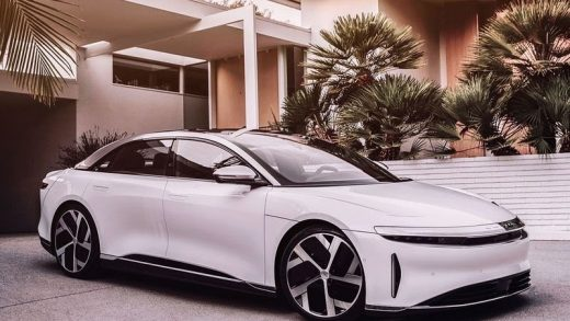 The Lucid Air is touted as the world's fastest charging EV. Image Credit: Supplied