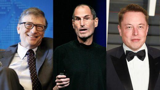 Bill Gates Steve Jobs Elon Musk