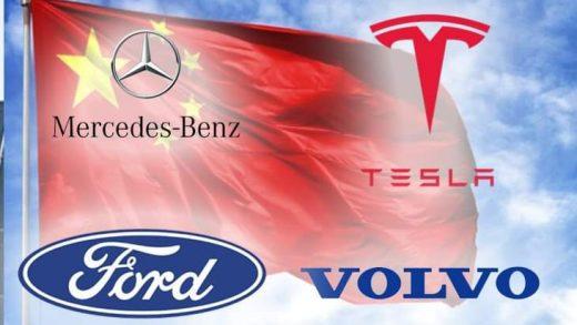 Tesla Mercedes Volvo Ford