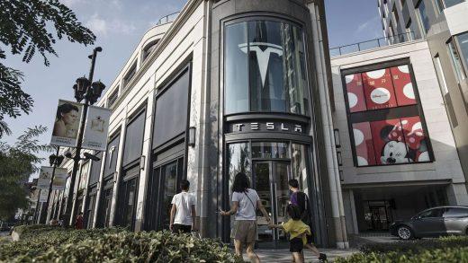A Tesla Inc. dealership in Shanghai, China.